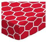 SheetWorld Fitted Pack N Play (Graco) Sheet - Honeycomb - Made In USA - 27 inches x 39 inches (68.6 cm x 99.1 cm)