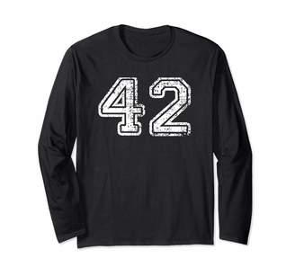 Sports Baseball Football Jerseys Shirt Co. Number 42 Shirt Baseball Football Soccer Birthday Gift Long Sleeve T-Shirt