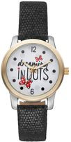 "Disney's Minnie Mouse ""Dreaming in Dots"" Women's Leather Watch"