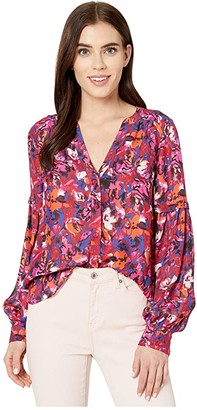 Parker Carmela Blouse (Guava Blooms) Women's Blouse