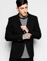 Lindbergh Suit Jacket In Slim Fit In Black