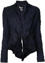 Yohji Yamamoto tuck short jacket - women - Cotton/Polyester - 3