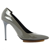 Balenciaga Grey Leather Heels