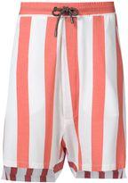 Vivienne Westwood Man high low hem shorts