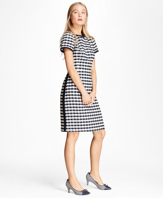 Brooks Brothers Gingham Boucle Shift Dress