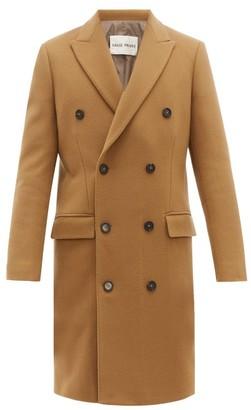 Privee Salle Salle Ives Double Breasted Wool Blend Overcoat - Mens - Brown