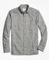 Brooks Brothers Glen Plaid Brushed-Cotton Flannel Sport Shirt