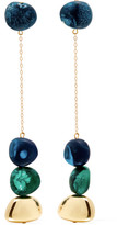 Dinosaur Designs Mineral Gold-filled Resin Earrings - Blue