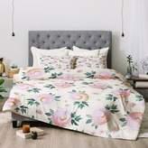 Deny Designs Pink Floral Abolina Rose Taffy Comforter Set