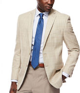 COLLECTION Collection by Michael Strahan Tan Plaid Sport Coat - Classic Fit
