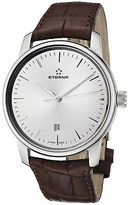 Eterna 8310-41-11-1176 Men's Soleure Automatic Silver Dial Brown Crocodile