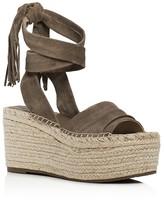 Marc Fisher Rabecca Ankle Tie Espadrille Platform Wedge Sandals