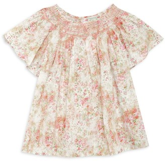 Bonpoint Little Girl's & Girl's Smocked Floral Blouse