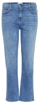 Current/Elliott The Kick Mid-rise Relaxed Flared Cropped jeans
