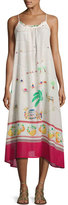 Kate Spade Camel-Print Maxi Coverup Dress, White