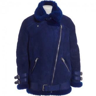 Acne Studios Blue Suede Coat for Women