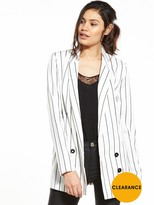Very Stripe Double Breasted Jacket