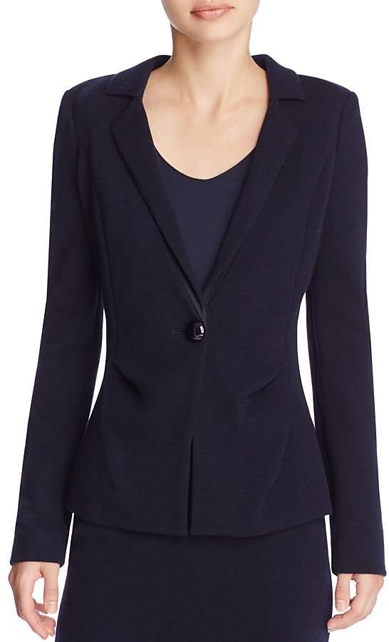 Armani Collezioni Tucked Crepe Jacket