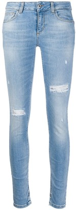 Liu Jo Distressed Low-Rise Skinny Jeans