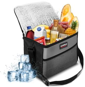 Kadell Picnic Bag, 9.5L Oxford Fabric Thermal Cooler Bag Waterproof Insulated Portable Picnic Travel Lunch Ice Food Bag Family Camping Travel or Food Delivery and Takeaway
