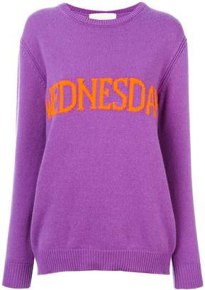 Alberta Ferretti Wednesday intarsia jumper