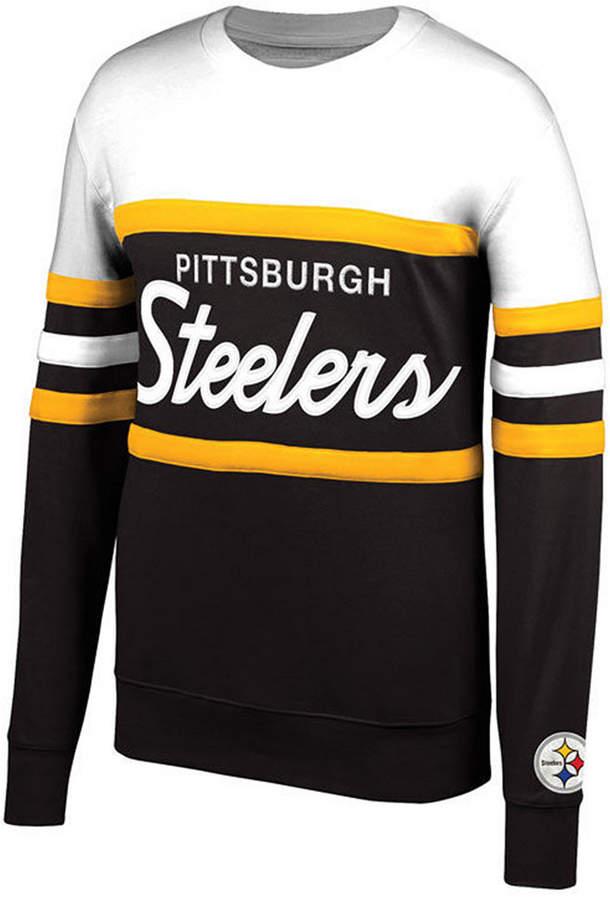 Mitchell & Ness Men Pittsburgh Steelers Head Coach Crew Sweatshirt