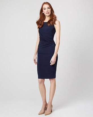 Le Château Knit Pleated Sheath Dress