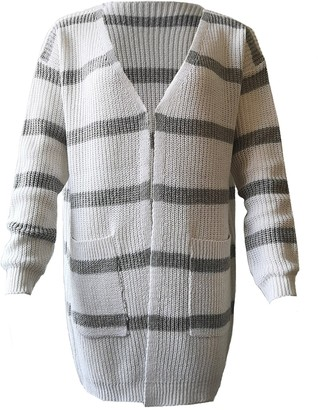 Goodnight Macaroon 'Janice' Striped Open Cardigan with Pockets (4 Colors)