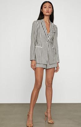 BCBGMAXAZRIA Cotton Linen Striped Blazer