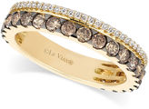 LeVian Le Vian 14k Gold Chocolate and White Diamond 2-Row Band (1-1/10 ct. t.w.)