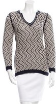 Tory Burch V-Neck Knit Sweater