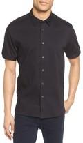 Ted Baker Men's Extra Trim Fit Textured Sport Shirt