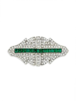 Kenneth Jay Lane Crystal Deco Brooch
