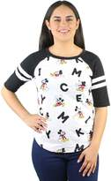 Disney Mickey Mouse Letters Print Women's Raglan T-shirt