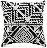 """Vera Bradley Black Satin Stitch Embroidery 16"""" Square Decorative Pillow"""