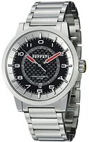 Ferrari Carbon Fiber Dial Stainless Steel Automatic Men's Swiss Made Watch FE-12-ACC-CM-BK