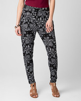 Le Château Printed Jersey Drawstring Track Pant