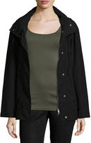 Eileen Fisher Snap-Front Hooded Jacket, Plus Size
