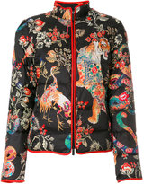 Etro oriental printed padded coat - women - Feather Down/Polyamide/Polyester - 42