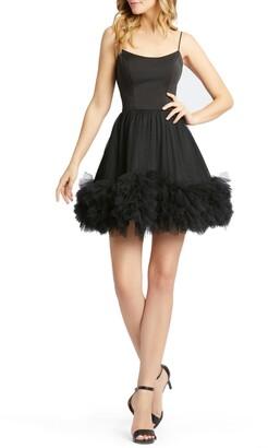 Mac Duggal Sleeveless Fit & Flare Tutu Hem Mini Dress