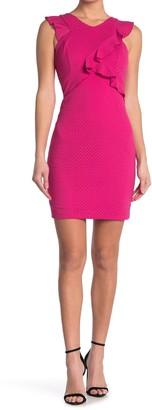 GUESS Crisscross Ruffle Sleeveless Dress