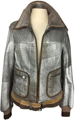 Maliparmi Silver Leather Jacket for Women