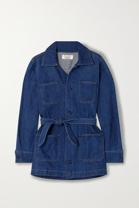 Reformation Dylan Belted Organic Denim Jacket - Indigo