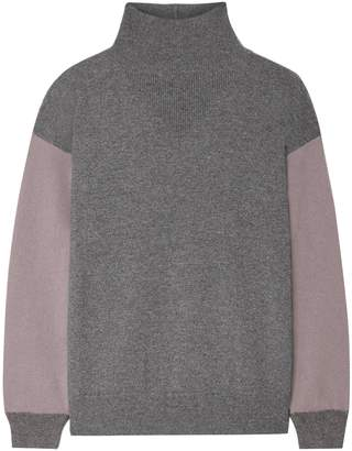 Agnona Two-tone Cashmere Turtleneck Sweater