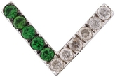Yvonne Leon V-Bar Tsavorite Diamond Earring