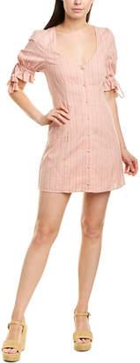 Tularosa Penny Linen-Blend Mini Dress