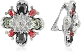 A-Z Collection Flower Clip-On Earrings
