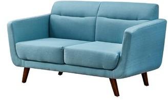 George Oliver Brutus Loveseat Upholstery Color: Light Blue
