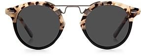 Krewe Unisex St. Louis 24K Polarized Round Sunglasses, 46mm