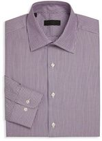 Ike Behar Striped Regular Fit Dress Shirt